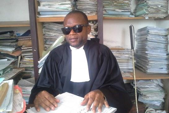 BARREAU DU CAMEROUN:Me JANVIER ALFRED NGALLE MBOG EST LE TOUT PREMIER AVOCAT DU BARREAU DU CAMEROUN, NON VOYANT