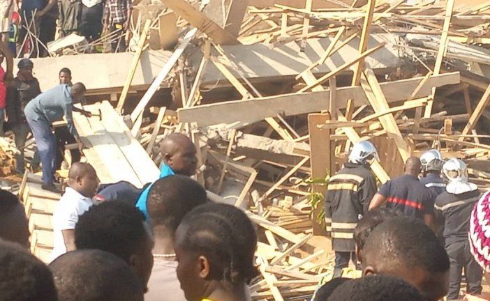 YAOUNDE : EFFONDREMENT D'UN IMMEUBLE EN CONSTRUCTION